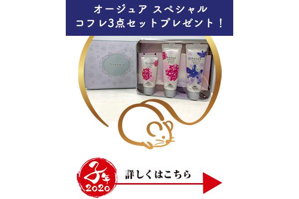 オージュア商品2点お買い上げで、オージュアスペシャルコフレ3点セットプレゼント!